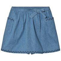 Cyrillus Blue Embroidered Skort 6404