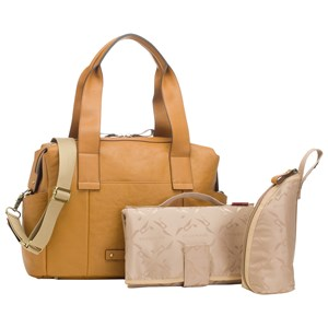Image of Storksak Kym Leather Changing Bag Tan (2965218593)
