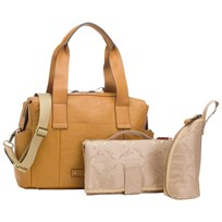Storksak Kym Leather Changing Bag Tan BROWN