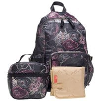 Storksak Hero Backpack Floral Printed black/rose