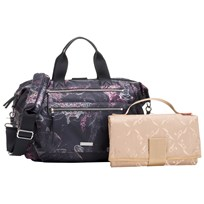 Storksak Seren Convertible Changing Bag Floral Printed black/rose