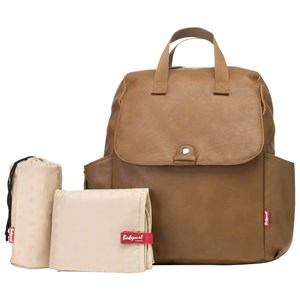 Image of Babymel Robyn Convertible Backpack Faux Leather Tan (3056061447)