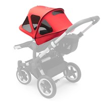 Bugaboo Donkey Breezy Sun Canopy Neon Red Punainen