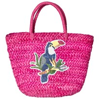 Mayoral Raffia Handbag with Sequin Embroidery Fuchsia 45