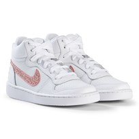 NIKE Court Borough Mid Sneakers White/Rust Pink 101