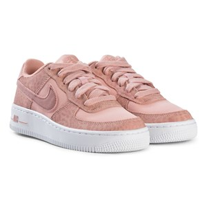 Image of NIKE Air Force 1 Junior Sneakers Coral Stardust 35.5 (UK 3) (2965217691)