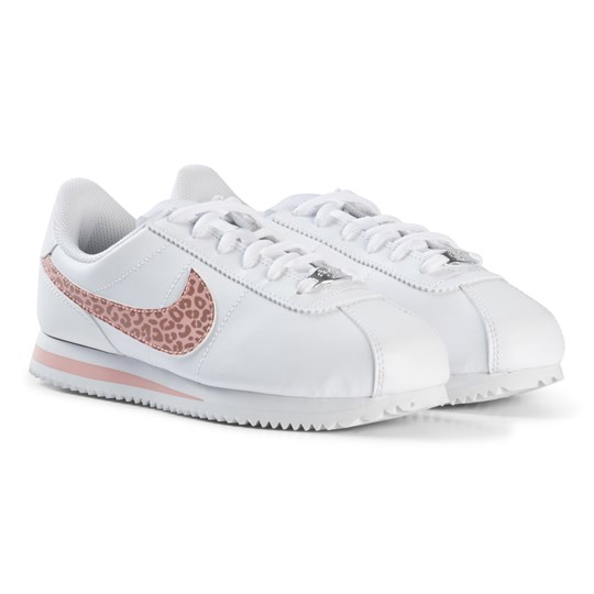 NIKE Cortez Basic Junior Sneakers White/Pale Pink 102