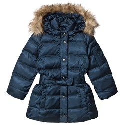 GAP Down Puffer Jacket with Belt New Navy