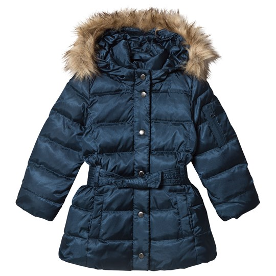 GAP Down Puffer Jacket with Belt New Navy New Navy