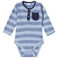 Hust&Claire Long Sleeve Blue Surf Baby Body Blue Surf