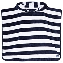 Snapper Rock Navy and White Stripe Hooded Towel Navy/White Stripe