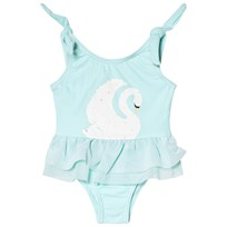 Snapper Rock Pale Blue Swan Tulle Swimsuit Blue/White