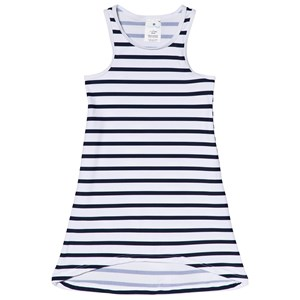 Image of Snapper Rock Navy and White Stripe Sleeveless Swim Dress 2 years (2965219169)
