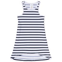 Snapper Rock Navy and White Stripe Sleeveless Swim Dress Navy/White