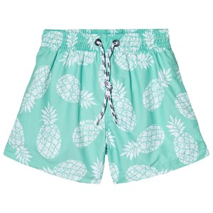 Image of Snapper Rock Light Green Mint Pineapple Pool Boardie Shorts 8 years (3015623469)