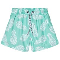 Snapper Rock Light Green Mint Pineapple Pool Boardie Shorts Mint Pineapple