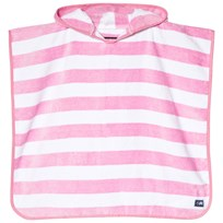 Snapper Rock Pink and White Stripe Hooded Towel Pink/White