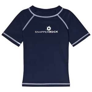 Image of Snapper Rock Navy Short Sleeve Rash Top 2 years (2965219407)