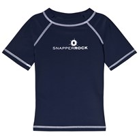 Snapper Rock Navy Short Sleeve Rash Top Navy