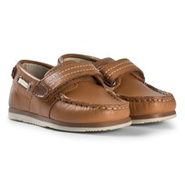 Mayoral Brown Leather Velcro Boat Shoes 65