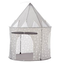 Kids Concept Play Tent Star New Grey Black