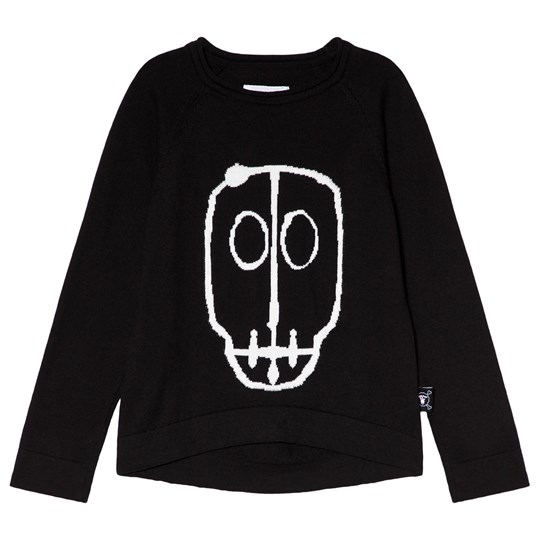 NUNUNU Skull Mask Patch Light Knit Black Black