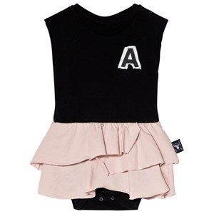 Image of NUNUNU aby Body with Skirt Black/Powder Pink 12-18 mdr (2968926833)
