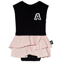 NUNUNU aby Body with Skirt Black/Powder Pink BLACK/POWDER PINK