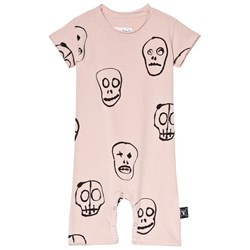 NUNUNU Skull Mask Playsuit Powder Pink