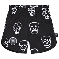 NUNUNU Skull Mask Surf Shorts Svart Black