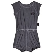 NUNUNU Dyed Yoga Romper Dyed Graphite Dyed Graphite
