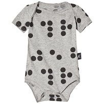 NUNUNU Braille Baby Body Heather Grey Grey