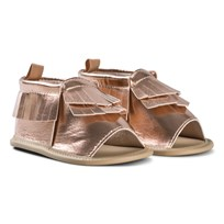 GAP Metallic Moccasin Sandals Rose Gold 200