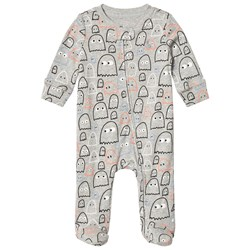 GAP Ghost Footed Baby Body Light Heather Grey