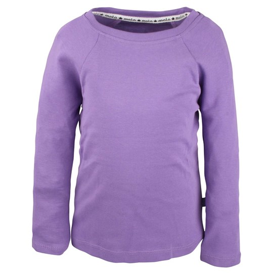 Molo T-shirt Rikke Lilla Spring with Pink Star Purple