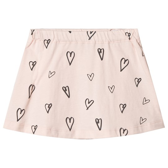 One We Like Hearts Skirt Soft Pink Softpink
