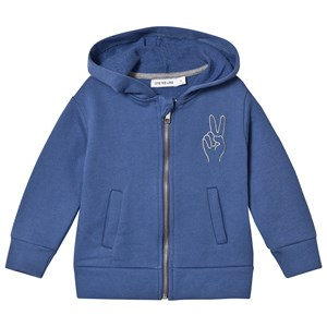Image of One We Like Peace Embroidered Hoodie Dutch Blue 1 år (2968931287)