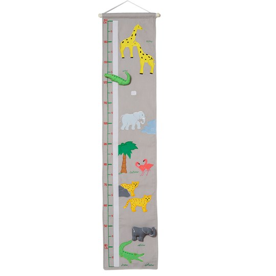 oskar&ellen Wild Animals Height Chart Grey