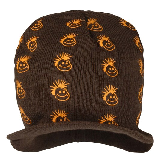Knuckleheads Golden Logo Beanie BROWN