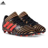 adidas Performance Gold Nemeziz Messi 17.3 Firm Ground Soccer Boots CORE BLACK/SOLAR RED/TACTILE GOLD MET. F17