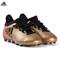 adidas Performance Black, Gold and Red X 17.3 Firm Ground Football Boots TACTILE GOLD MET. F17/CORE BLACK/SOLAR RED