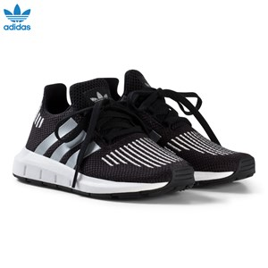 Image of adidas Originals Black and Silver Swift Run Kids Trainers 28 (UK 10.5) (3065506465)