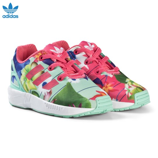 adidas Originals Pink Flower ZX Flux Infants Trainers