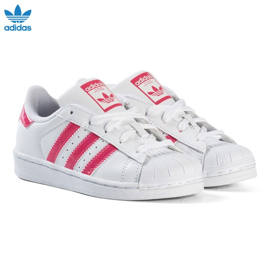 the latest d6312 ece7b adidas Originals Kids Superstar Sneakers Vit och Rosa FTWR WHITE REAL PINK  S18 FTWR