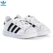 adidas Originals White and Shiny Black Infants Superstar Trainers FTWR WHITE/CORE BLACK/FTWR WHITE