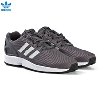 adidas Originals Grey Blue ZX Flux Junior Trainers GREY FIVE F17/core black/ftwr white