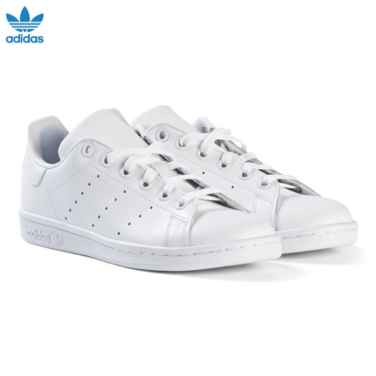adidas Originals White Junior Stan Smith Trainers FTWR WHITE/FTWR WHITE/FTWR WHITE