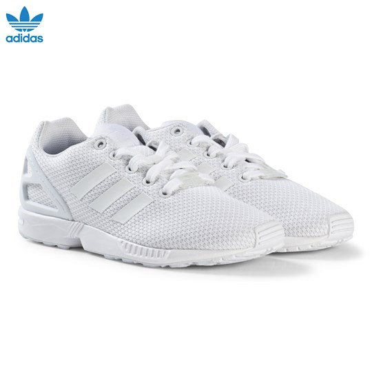 adidas Originals White ZX Flux Junior Trainers FTWR WHITE/FTWR WHITE/FTWR WHITE