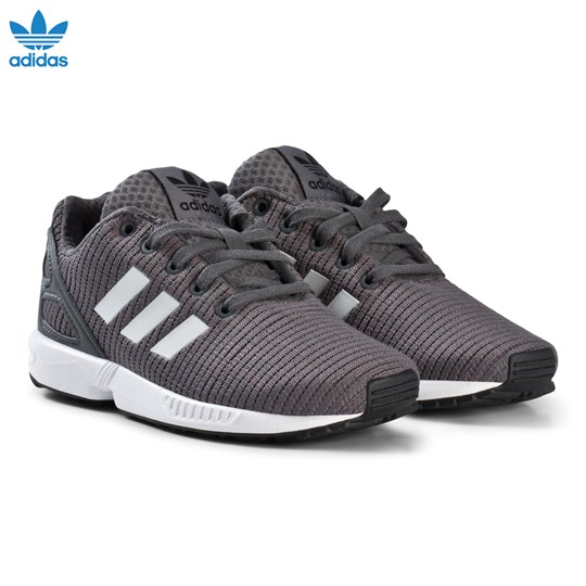 adidas Originals Grey Blue ZX Flux Kids Trainers AERO BLUE S18/CORE BLACK/FTWR WHITE