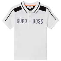 BOSS White Branded Pique Polo 10B